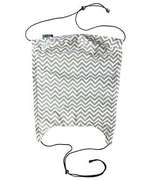Sonnenschutz für Kinderwagen und Babyschalen weißes / Minzgrün ZIGZAG