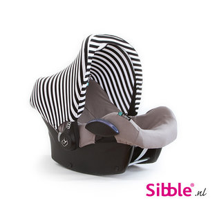 Maxi Cosi Zonnekap Zwart witte streepjes Stripe